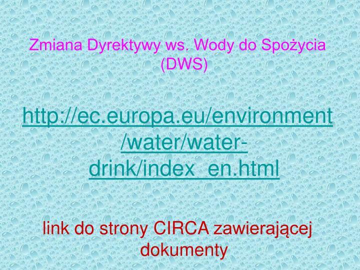 Zmiana Dyrektywy ws. Wody do Spożycia