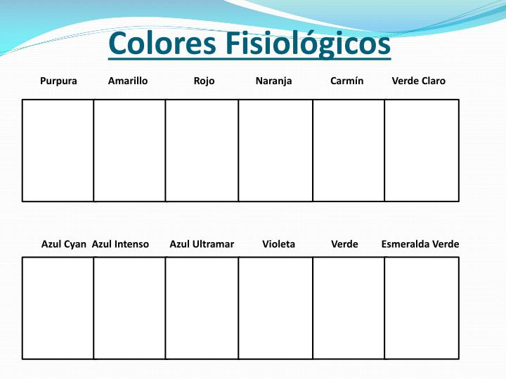 Colores Fisiológicos