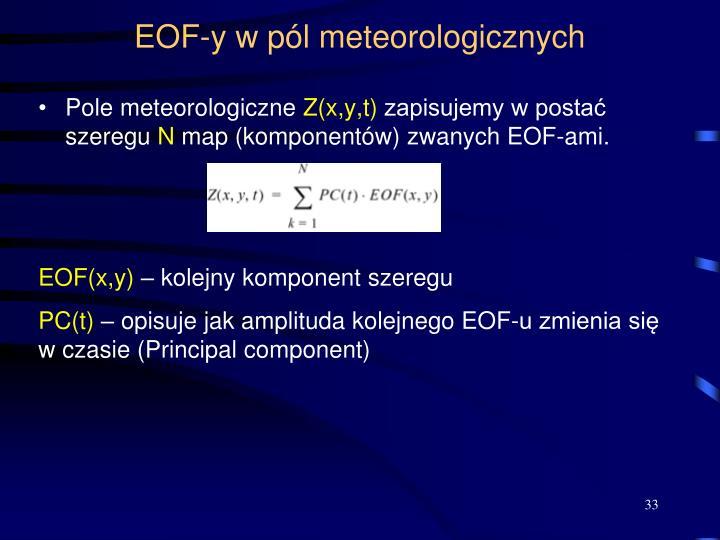 EOF-y w pól meteorologicznych