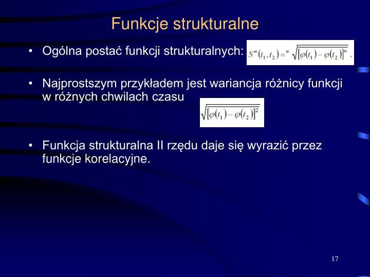 Funkcje strukturalne