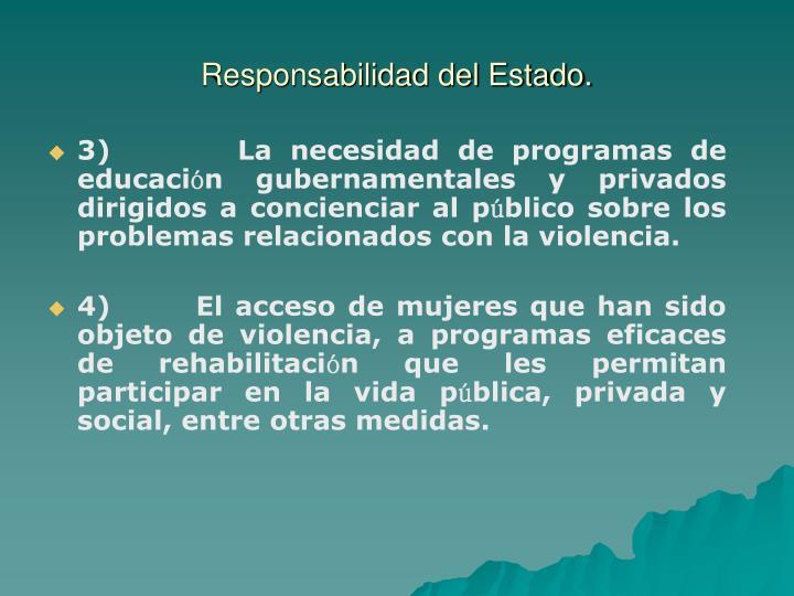 Responsabilidad del Estado.