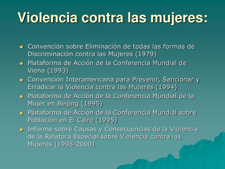 Violencia contra las mujeres: