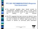ffc 2001 rec0mmendation s response from government