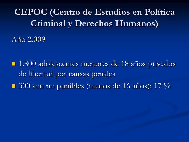 CEPOC (Centro de Estudios en Política Criminal y Derechos Humanos)