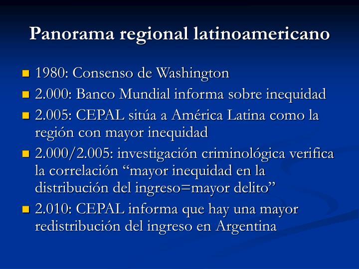 Panorama regional latinoamericano