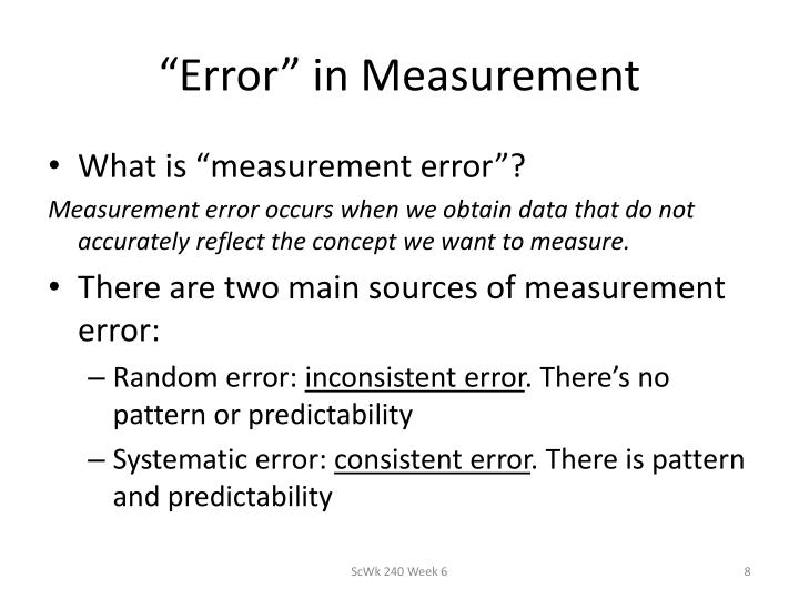 """Error"" in Measurement"