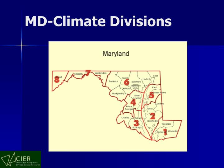 MD-Climate Divisions