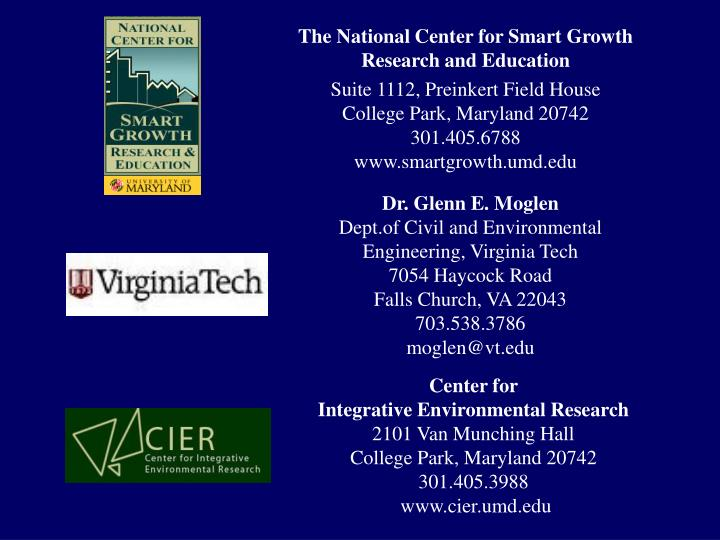 The National Center for Smart Growth