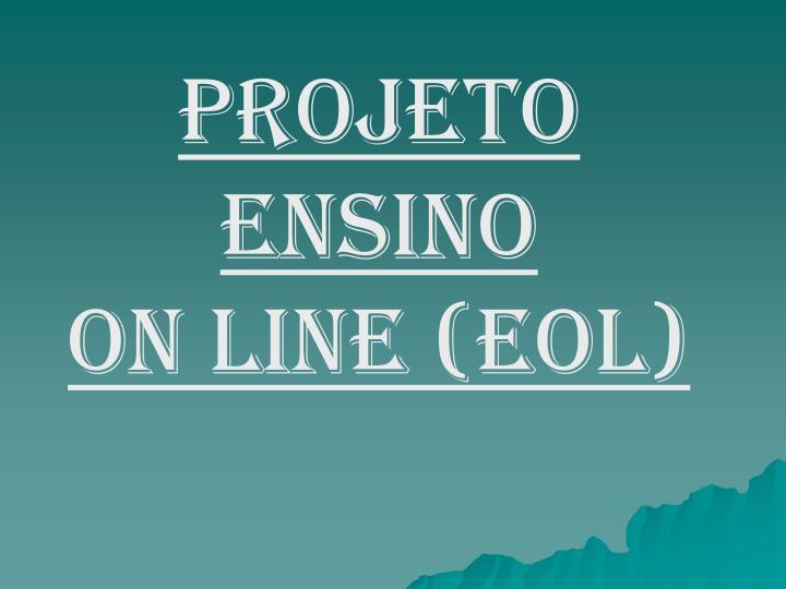 Projeto Ensino