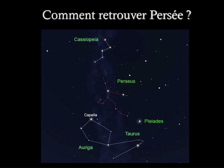 Comment retrouver Persée ?