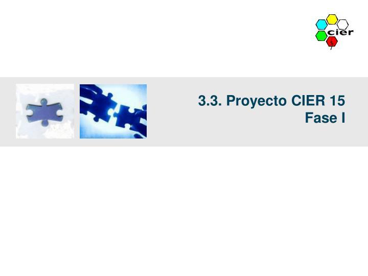 3.3. Proyecto CIER 15
