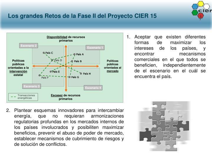 Los grandes Retos de la Fase II del Proyecto CIER 15