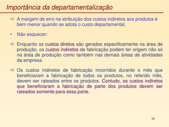 Importância da departamentalização