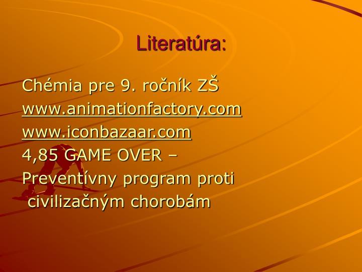 Literatúra: