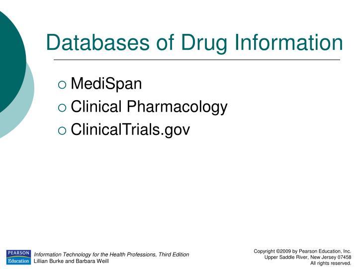 Databases of Drug Information