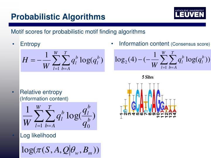 Probabilistic Algorithms
