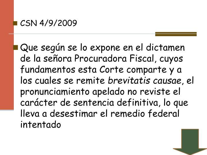 CSN 4/9/2009