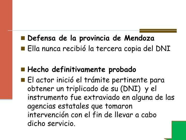Defensa de la provincia de Mendoza