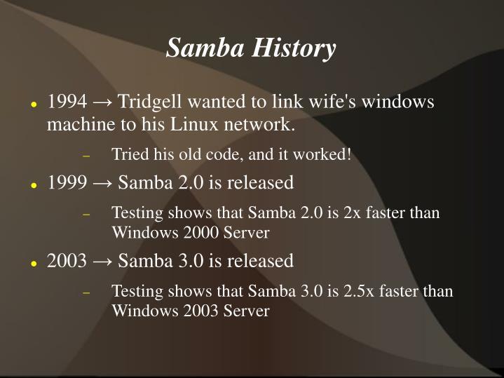 Samba History