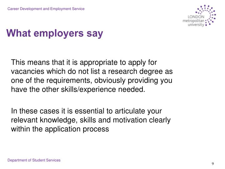 Career Development and Employment Service