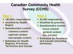 canadian community health survey cchs