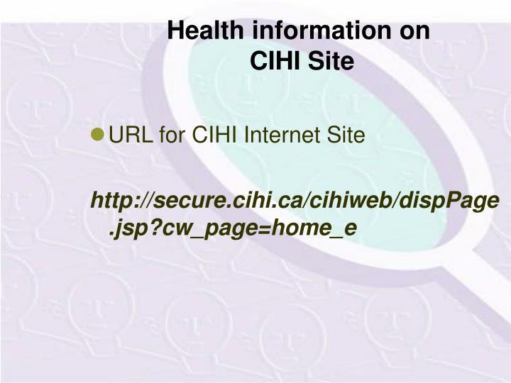Health information on