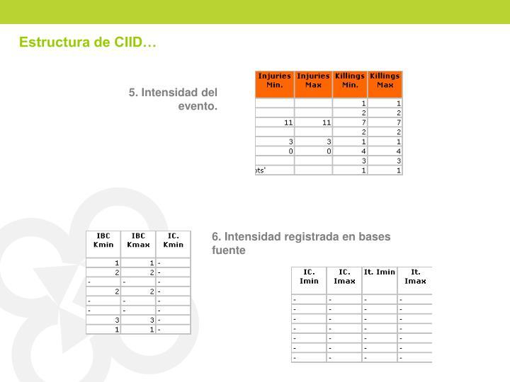 Estructura de CIID…