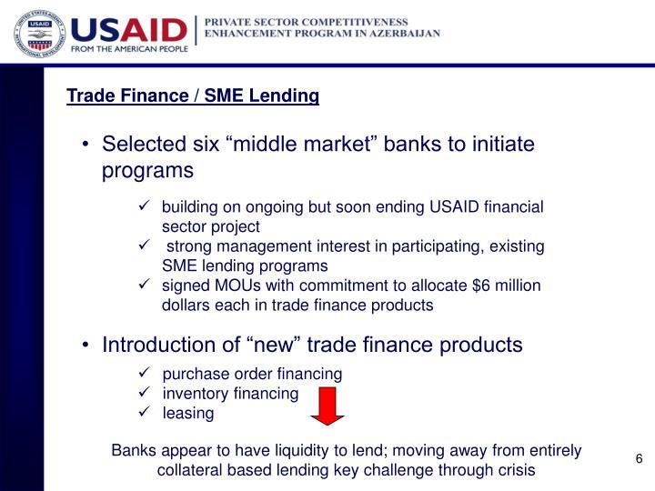 Trade Finance / SME Lending