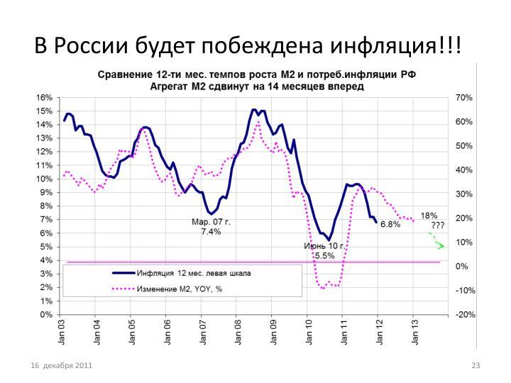 В России будет побеждена инфляция!!!