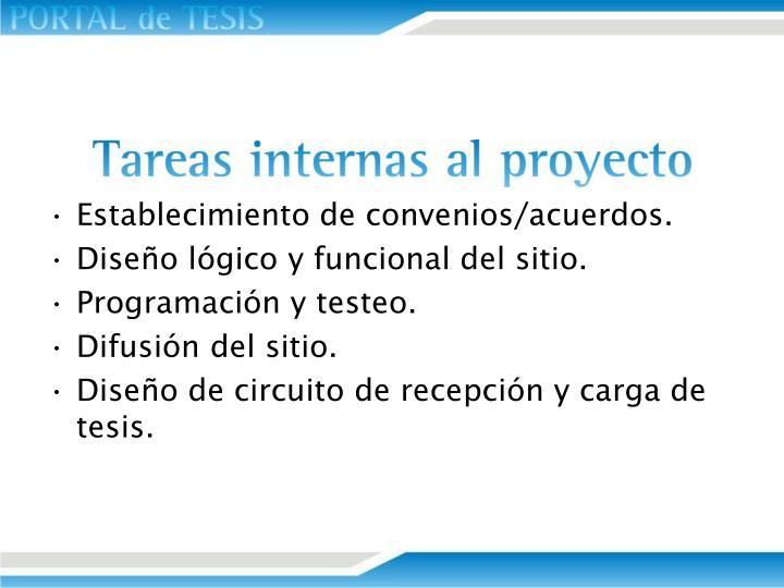 Establecimiento de convenios/acuerdos.