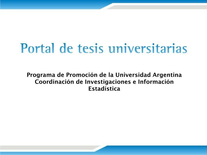 Programa de Promoción de la Universidad Argentina