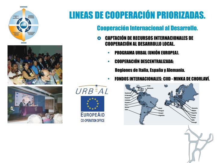 LINEAS DE COOPERACIÓN PRIORIZADAS.