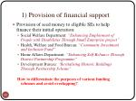 1 provision of financial support