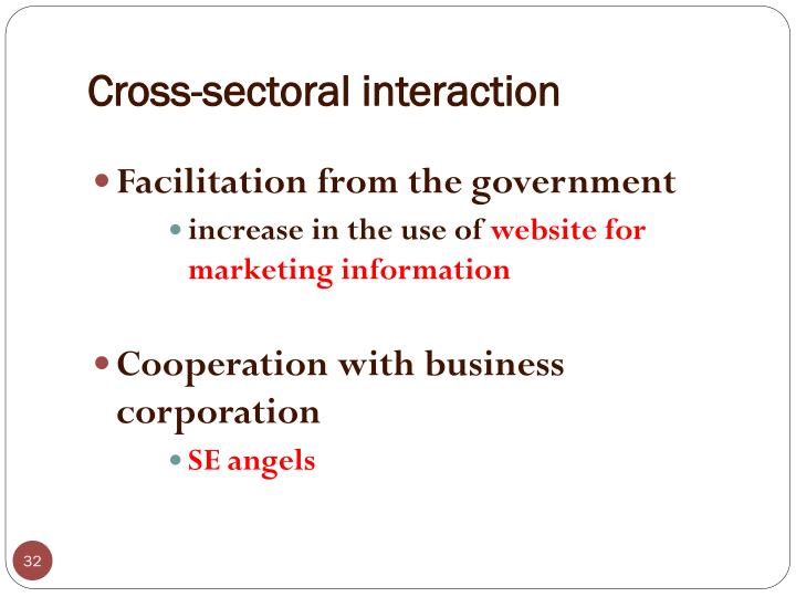 Cross-sectoral interaction