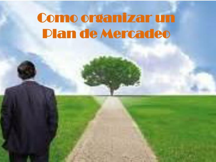 Como organizar un plan de mercadeo