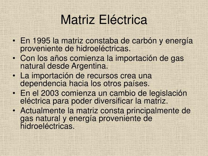 Matriz Eléctrica