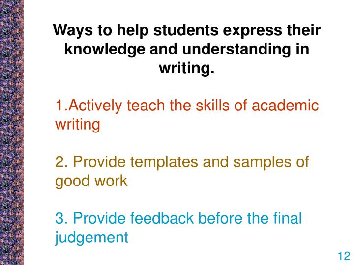 ppt improving students writing in assessment tasks