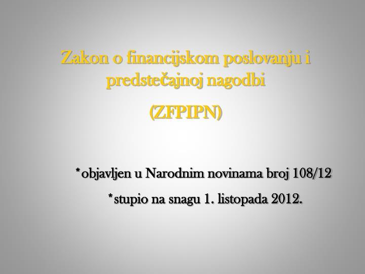Zakon o financijskom poslovanju i