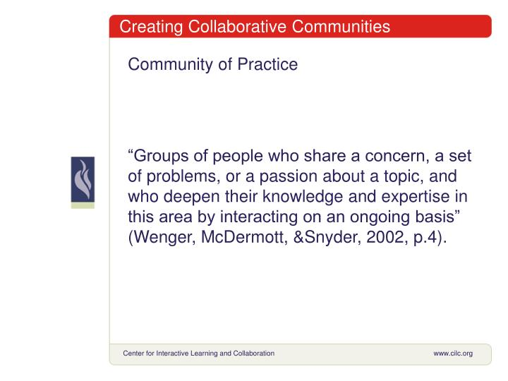 Creating Collaborative Communities