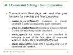 m s constraint solving communication2