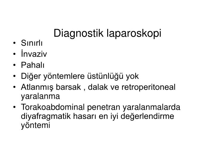 Diagnostik laparoskopi