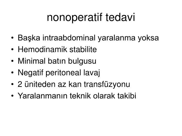 nonoperatif tedavi