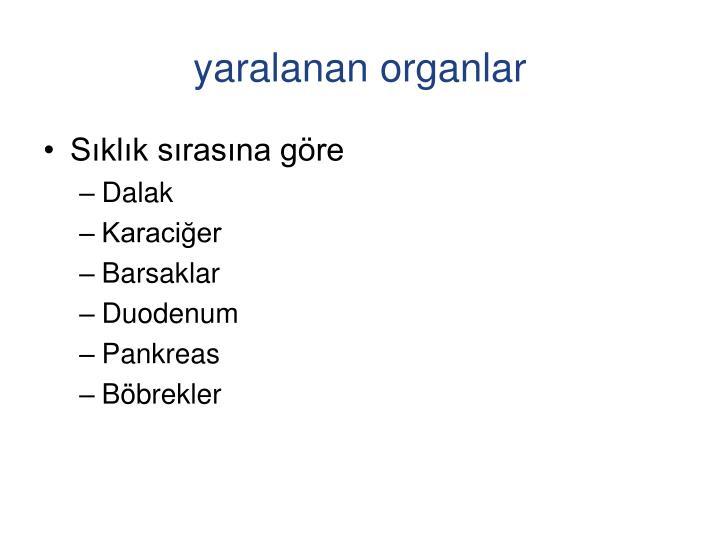 yaralanan organlar