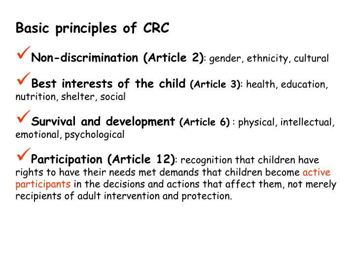 Basic principles of CRC