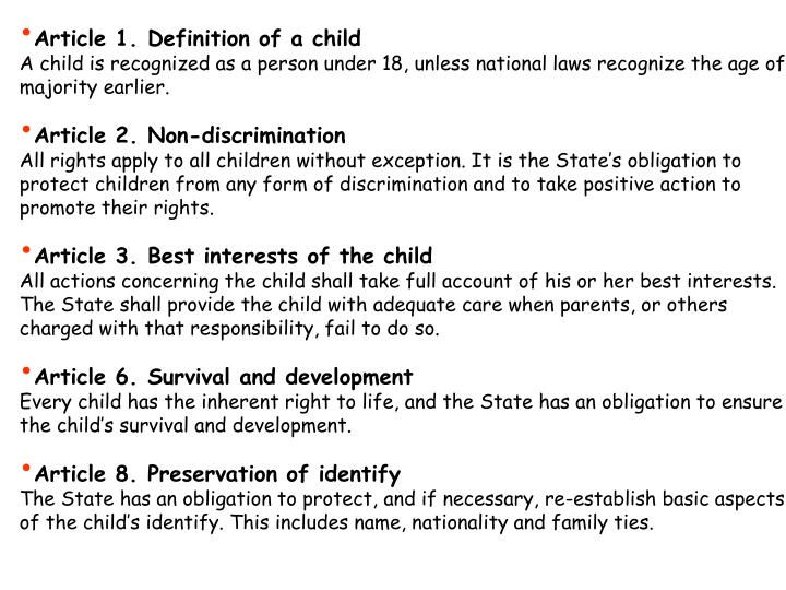 Article 1. Definition of a child