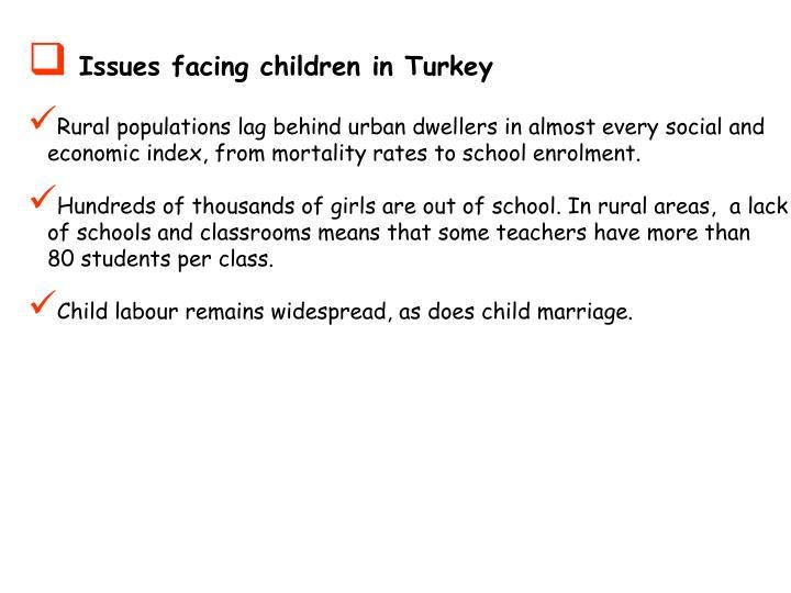 Issues facing children in Turkey