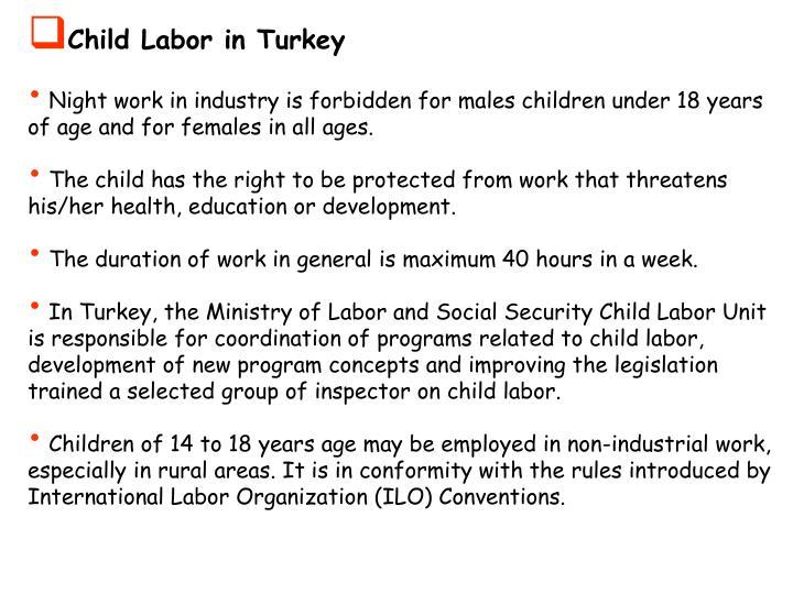 Child Labor in Turkey