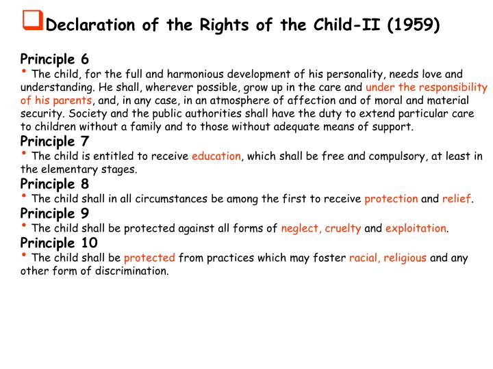 Declaration of the Rights of the Child-II (1959)