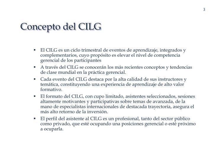 Concepto del CILG