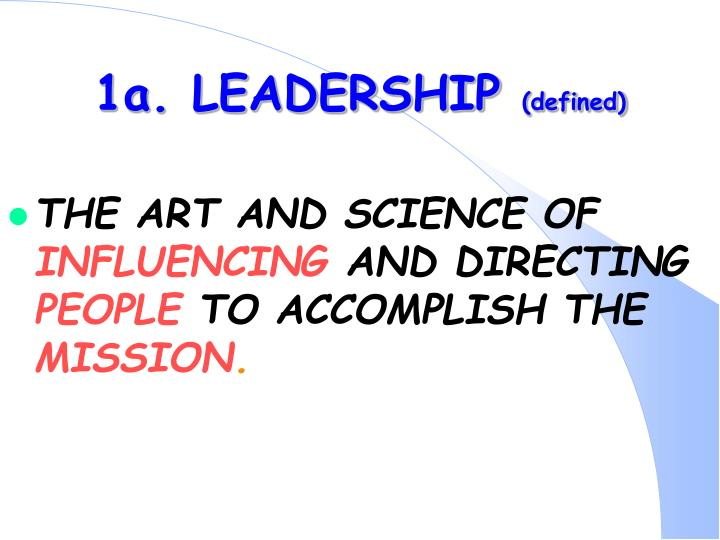 1a leadership defined